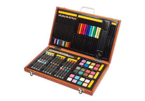 82 PC Art Set In Wood Case