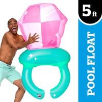 Giant Bling Ring Pop Pool Float