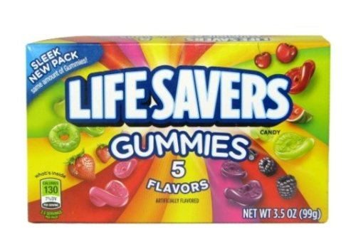 LIFESAVERS GUMMIES 5 FLV THEATER BOX