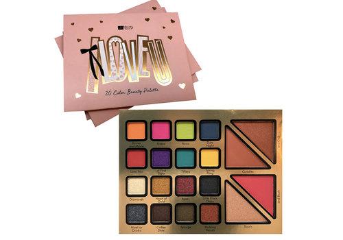 I LOVE U 20 Color Beauty Palette