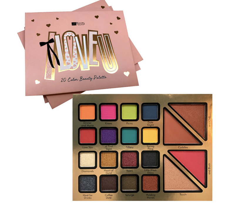 I LOVE U 20 Color Beauty Palette