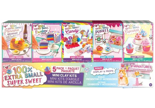 Extra Small Sweets Mini Clay 5- Pack
