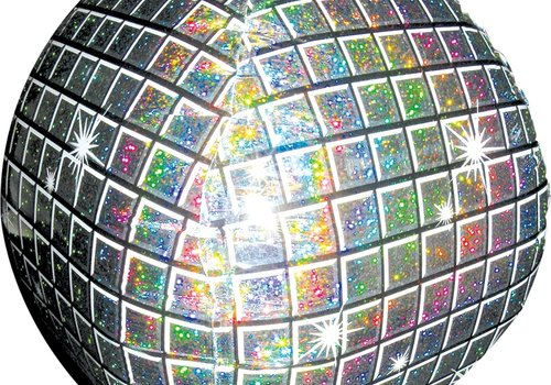"Anagram Mylar Disco Ball 15"" Ultrashape Balloon"