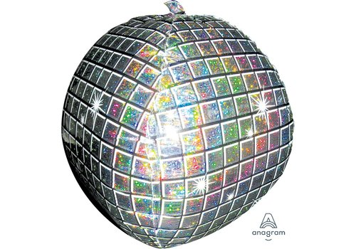 "Anagram Mylar Disco Ball 15"" Ultrashape Balloon"
