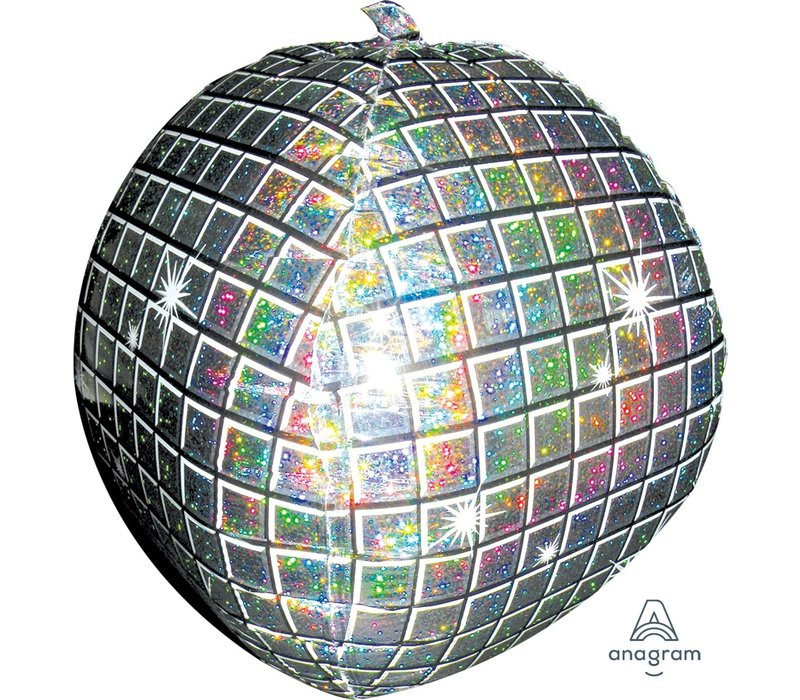 "Mylar Disco Ball 15"" Ultrashape Balloon"