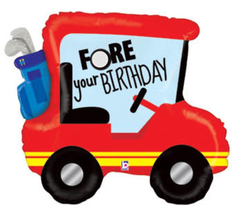 """Golf Cart 34"""" Mylar Balloon"""