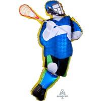 "Lacrosse Player 26"" mylar balloon"