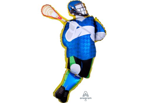 "Anagram Lacrosse Player 26"" mylar balloon"