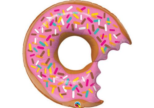 "Qualatex Bitten Donut 36"" mylar balloon"