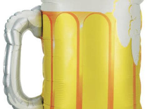 """betallic Beer Mug 34"""" Mylar Balloon"""