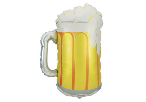 "betallic Beer Mug 34"" Mylar Balloon"