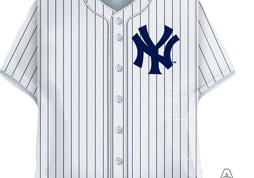 "Anagram Yankees Baseball Jersey 24"" Mylar Balloon"