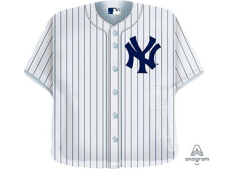 """Anagram Yankees Baseball Jersey 24"""" Mylar Balloon"""