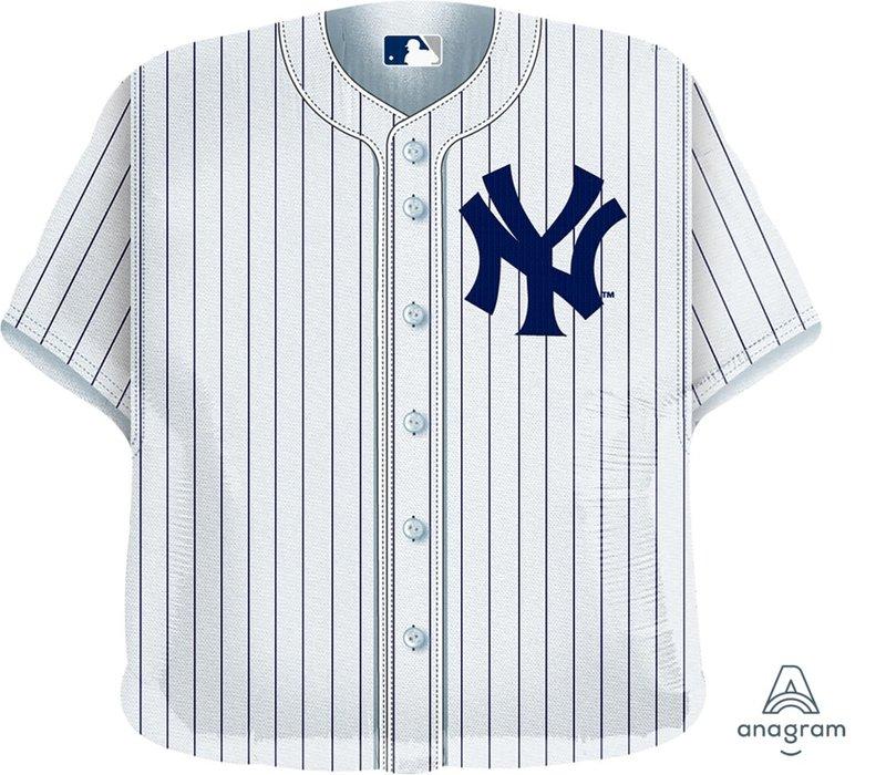 """Yankees Baseball Jersey 24"""" Mylar Balloon"""