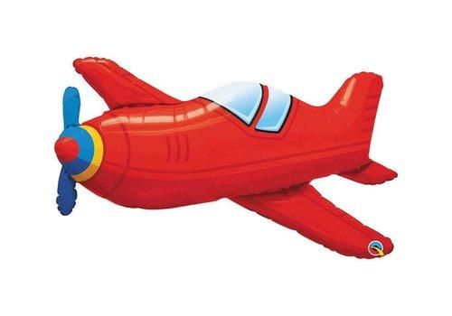 "Qualatex Red Airplane 36"" Mylar Balloon"