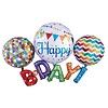 Anagram HBD Rainbow Multi Balloon Mylar