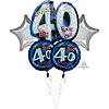 Anagram OH NO! 40 HBD Mylar Balloon Bundle