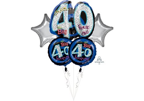 Anagram OH NO! 40 HBD Mylar Balloon Bundle