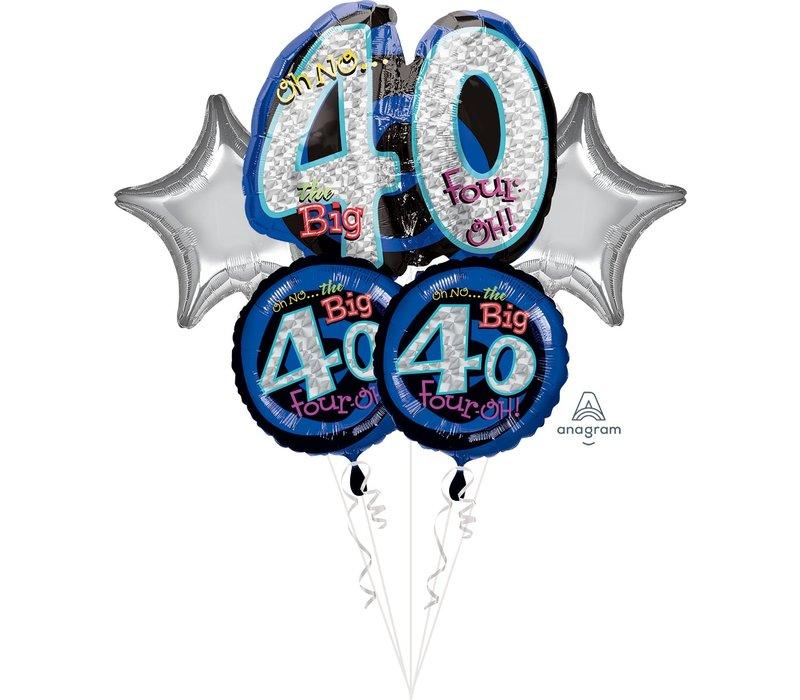 OH NO! 40 HBD Mylar Balloon Bundle
