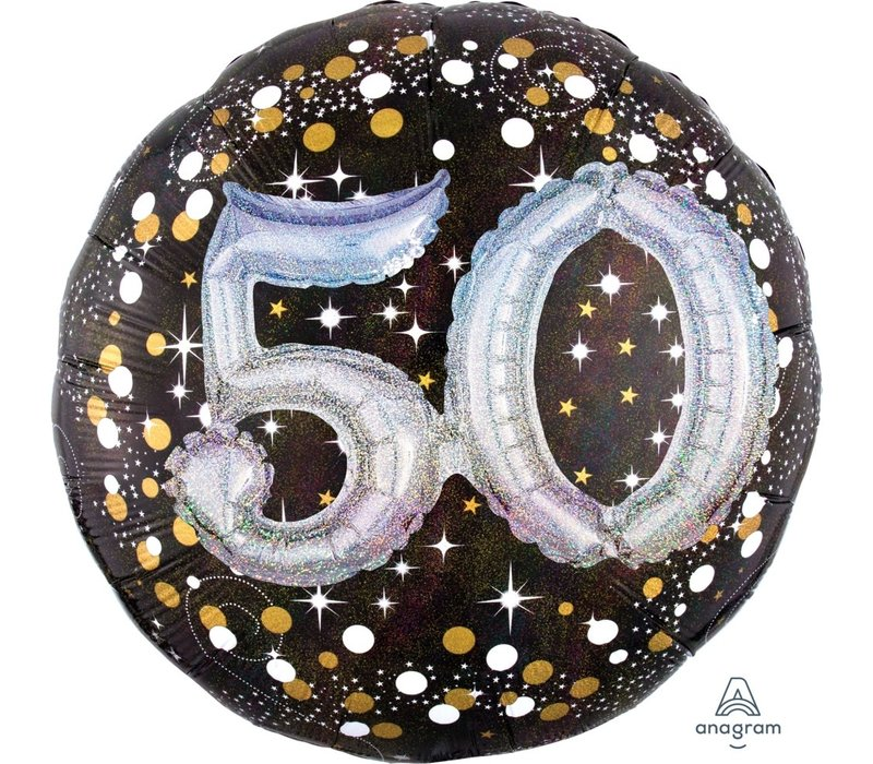 Holographic 50 Mylar Balloon 32""