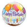 "Qualatex HAPPY BIRTHDAY BUBBLE BALLOON 22"""
