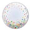 """Qualatex Clear Confetti 24"""" deco Bubble"""