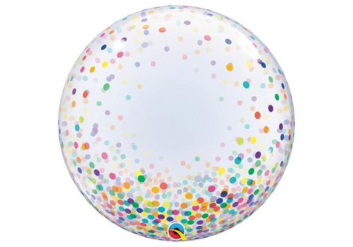 "Qualatex Clear Confetti 24"" deco Bubble"