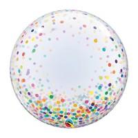 """Clear Confetti 24"""" deco Bubble"""