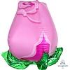 "Anagram PINK ROSE 22"" Mylar balloon"