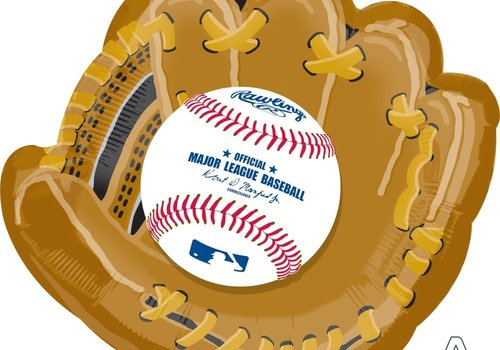 "Anagram BASEBALL GLOVE 25"" mylar balloon"