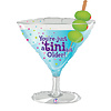 betallic TINI BIT OLDER Cocktail Mylar Balloon