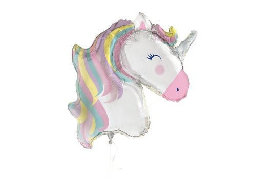 "Unique 42"" Unicorn Head Mylar Balloon"