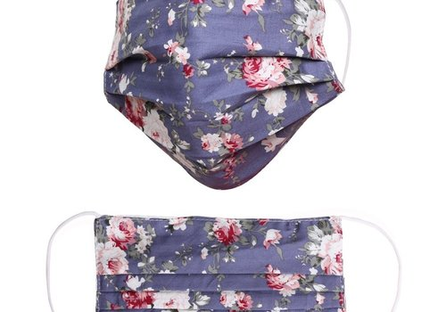 Blue Floral Adjustable Face mask