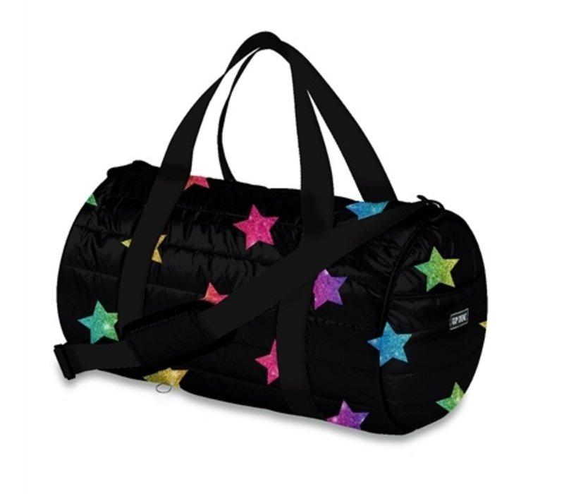 Puffer Multi Glitter Star Dufflebag