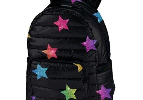 Puffer Multi Glitter Star Backpack