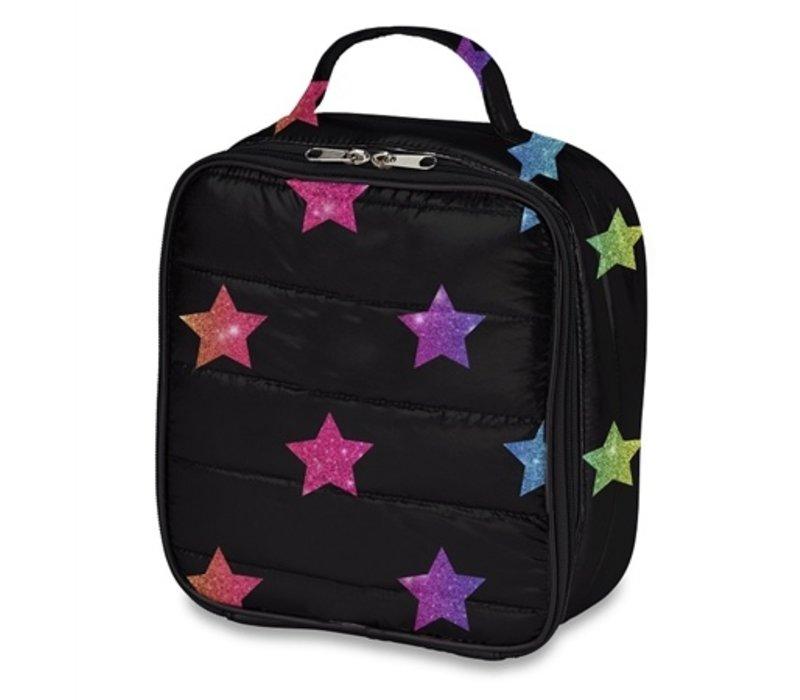 Puffer Multi Glitter Star Lunch Bag
