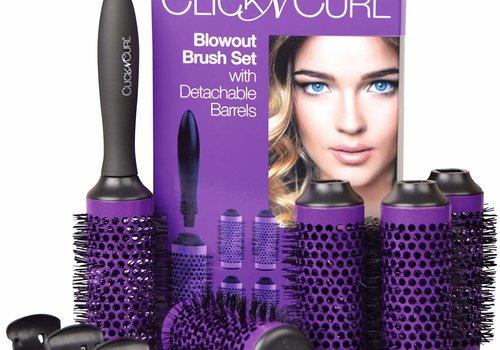 Medium Click And Curl Blowout Brush Set