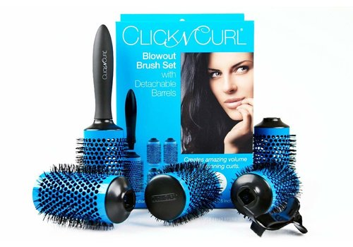 Large Click And Curl Blowout Brush Set