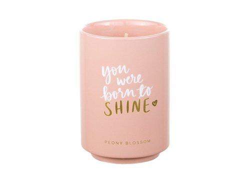 You Were Born To Shine Peony Candle