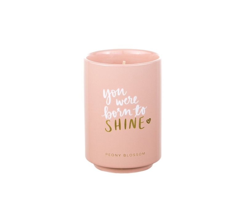 You Were Born To Shine Peony Candle