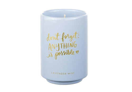 Don't forget Anything is Possible Candle