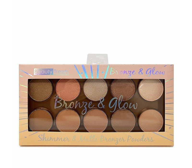 Bronze & Glow Shimmer & Matte Bronzer Powders