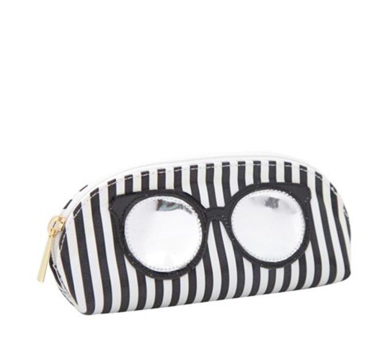 Black Stripes Sunglass Case