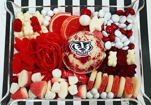 College Candycuterie Acrylic Jewelry Tray with Artisan Bomb