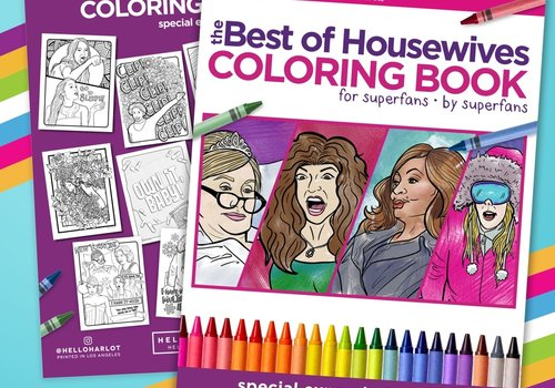 The Best of Real Housewives Coloring Book