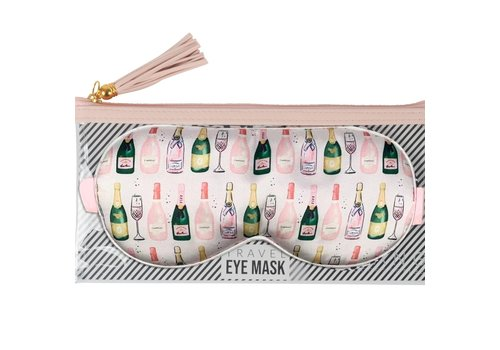 Champagne Eye Mask& Pouch
