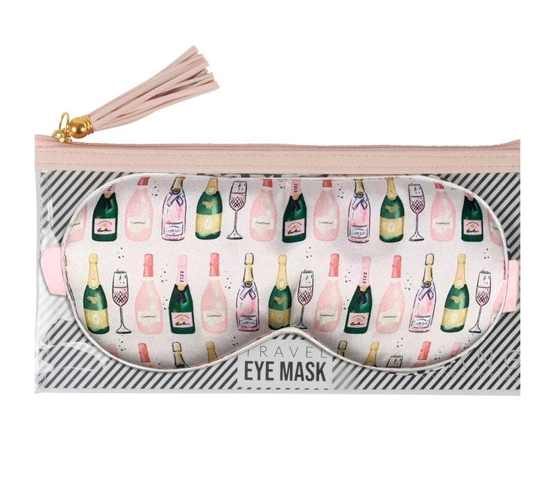 Champagne Eye Mask& Pouch