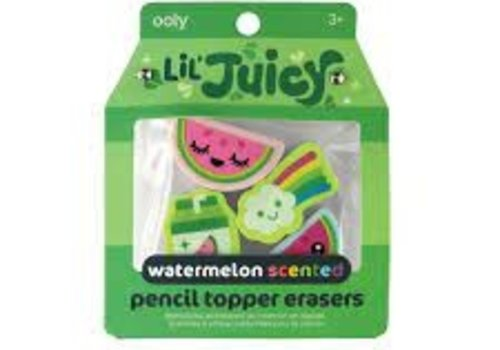 Lil Juicy Watermelon  Scented pencil Toppers Erasers