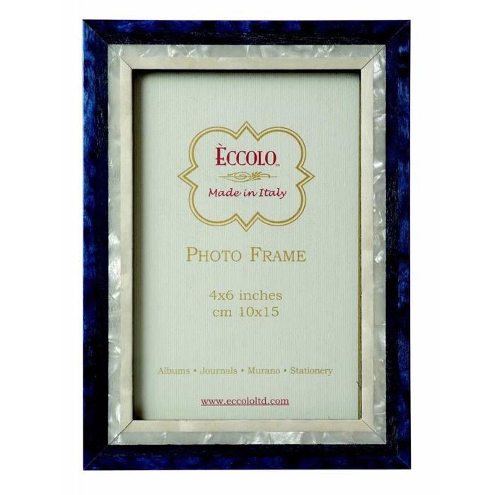 Marquetry Frame Studio Blue 4x6 - Made in Italy