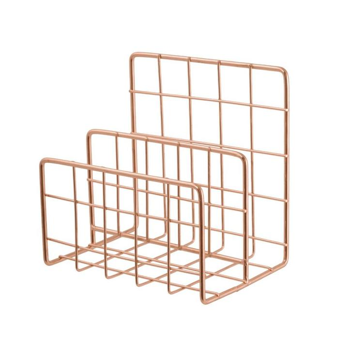 Desk Organizer Copper Letter Holder